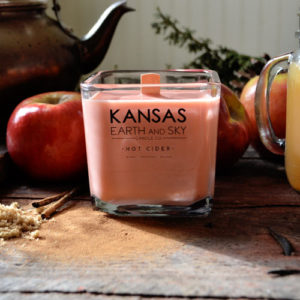Soy Wax Natural Scented Candles Kansas Earth and Sky