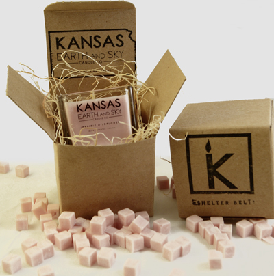 kansas soy candle packaging
