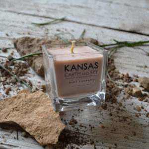 kansas dirt therapy small soy candle clean burning