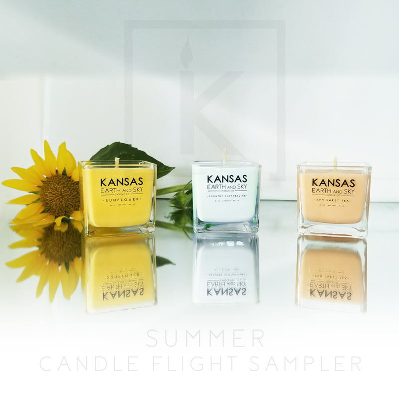 summer soy candle flight sampler