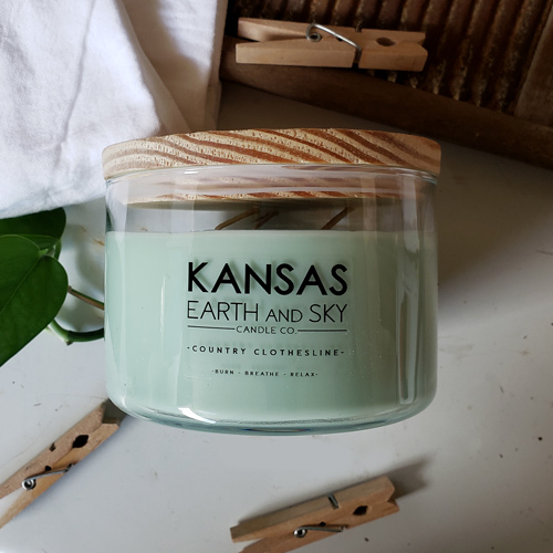 country clothesline 24oz soy candle 3 wick