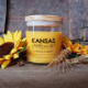 Sunflower scented soy candle 10oz