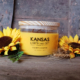 Sunflower scented soy candle 24oz