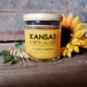 Sunflower scented soy candle 5oz