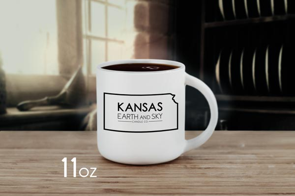 kansas candle logo mug