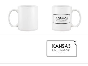 Kansas earth and sky candle logo mug-