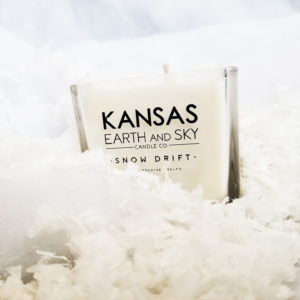 snow drift soy candle kansas earth and sky