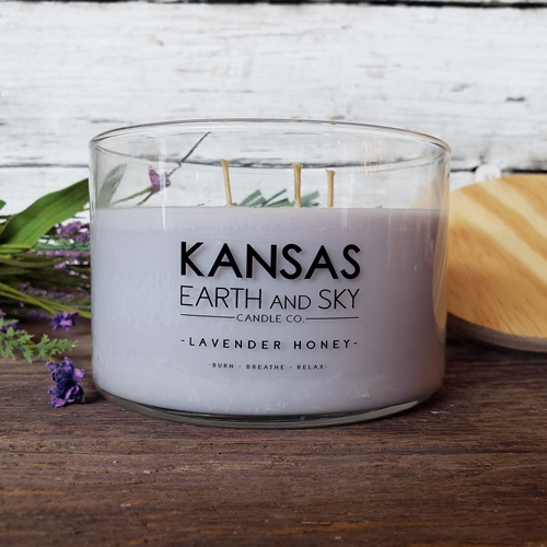 lavender honey soy candle 24oz