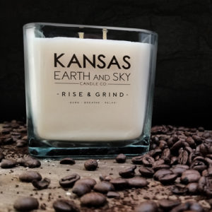 rise and grind large soy candle