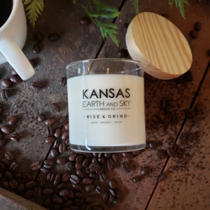 rise and grind 10oz soy candle