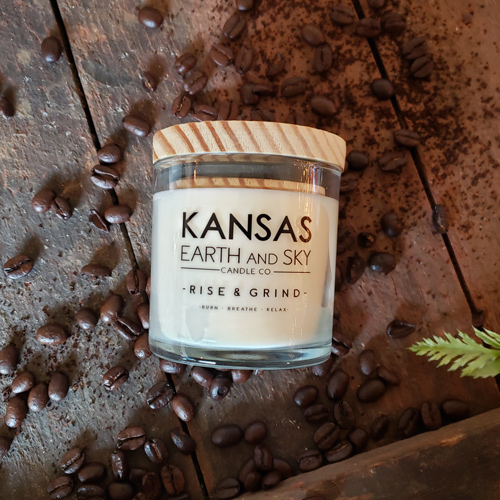 rise and grind 5oz soy candle