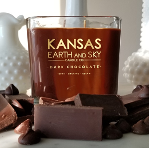 dark chocolate soy candle 12oz
