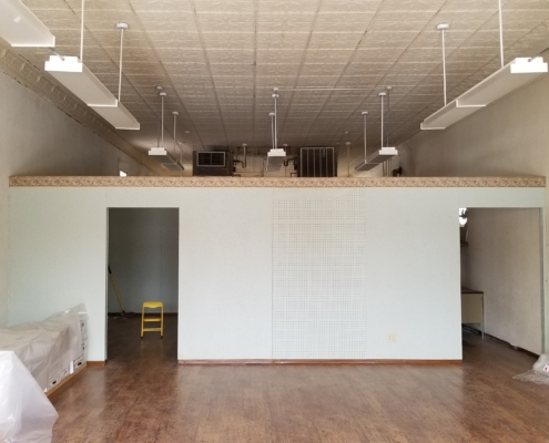 Blank Walls at Kansas Earth and Sky Candle Co Building