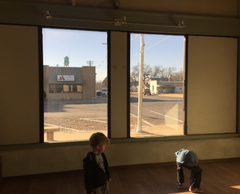 Big Windows at the Kansas Earth and Sky Candle Co Building