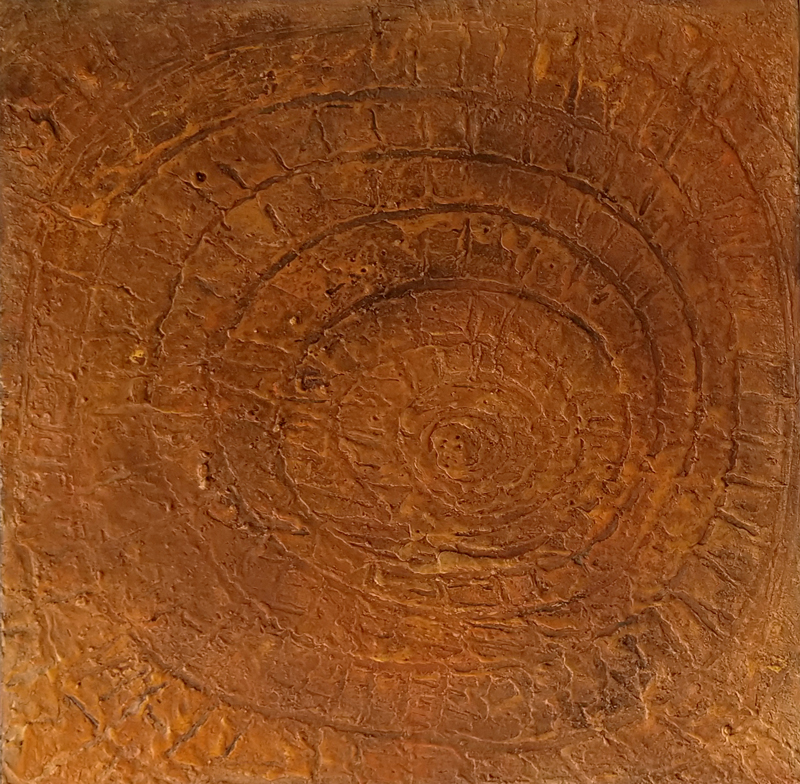 fossil painting