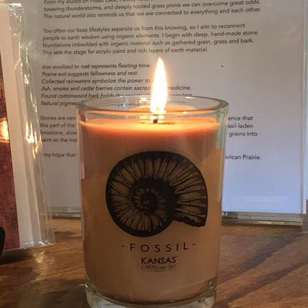 fossil soy candle