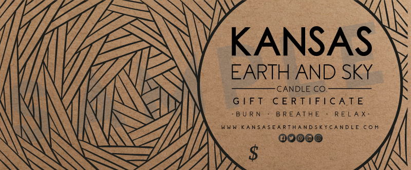 Kansas Earth and Sky Gift Card - Gift Certificate