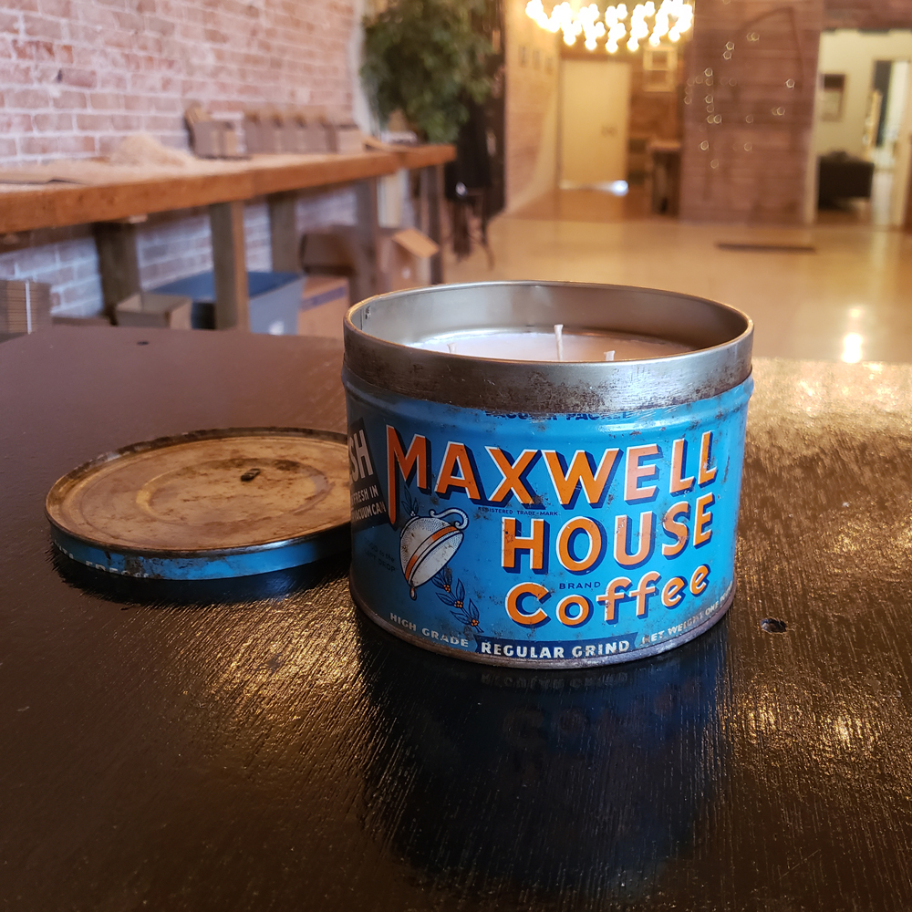 Maxwell house vintage tin candles