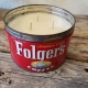 vintage coffee tin soy candles