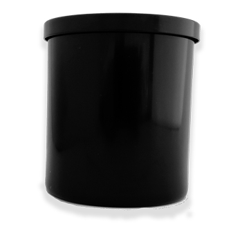 black candle glass 10oz