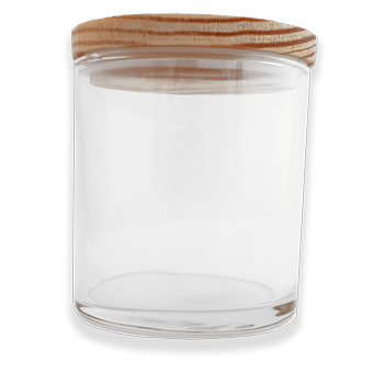 clear 10oz candle glass