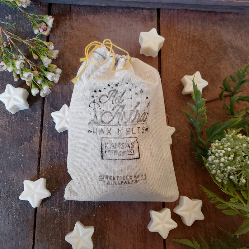 sweet clover and alfalfa soy wax melts