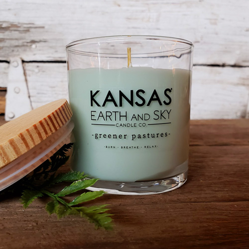 greener pastures 10oz soy candle