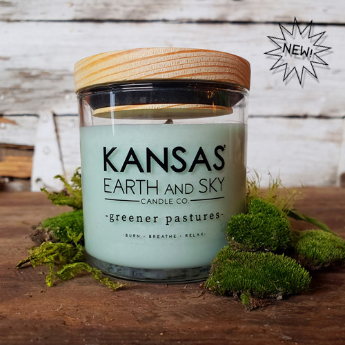 greener pastures 5oz soy candle