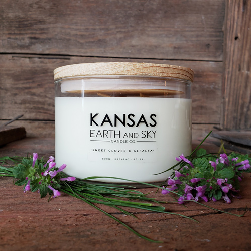 Sweet Clover and Alfalfa scented candles 24oz