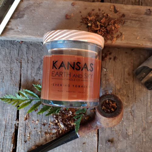 evening tobacco 5oz scented soy candle