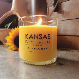 sunflower fragrance soy candles