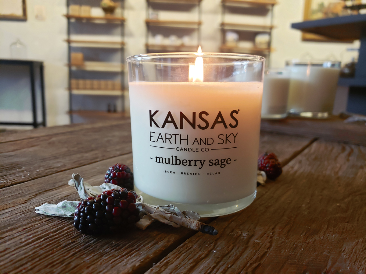 Mulberry Sage soy candle