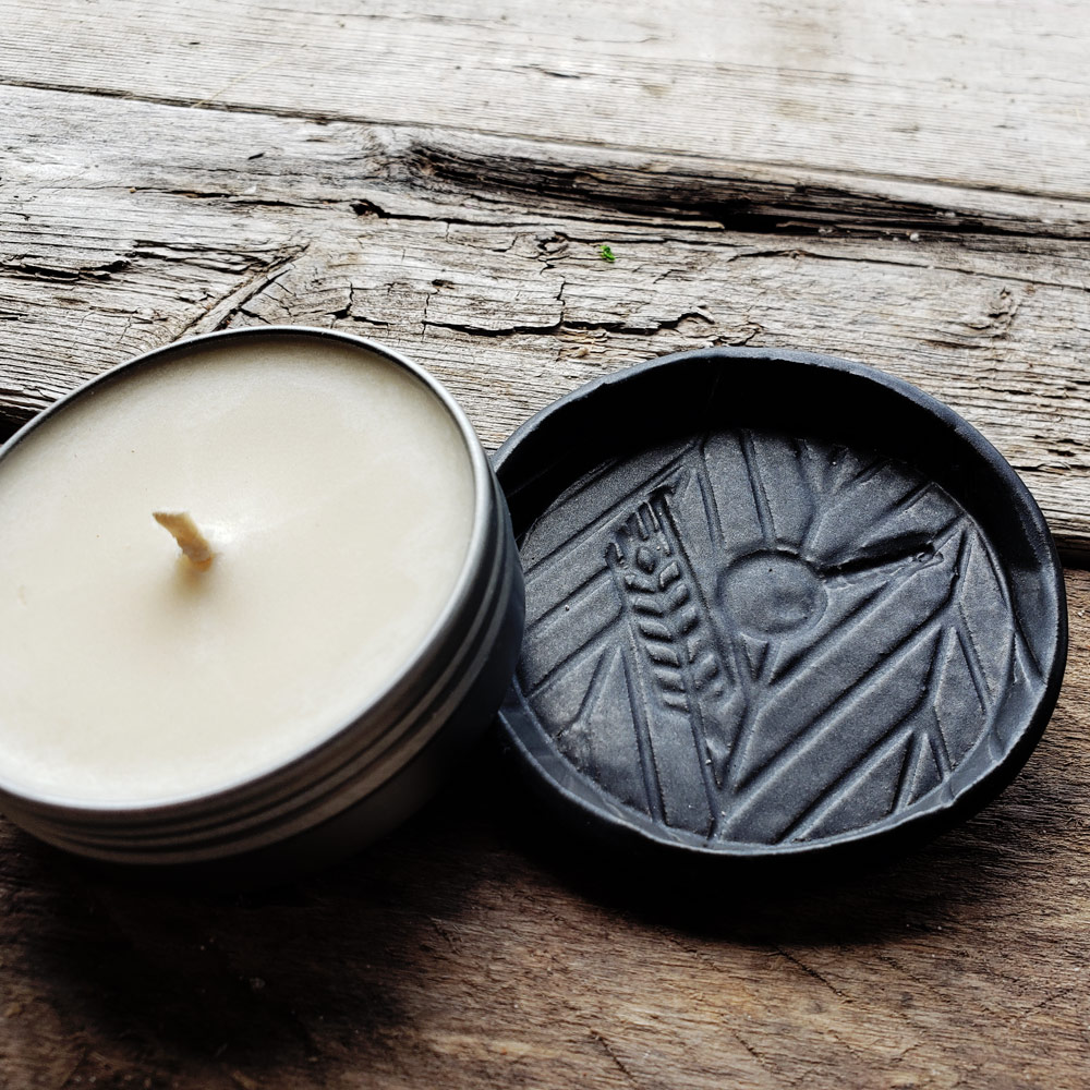 Ceramic Candle Coaster and incense tray